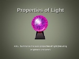 Properties of Light (Brightness, color, visibility)