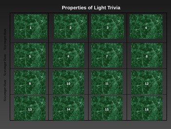 Properties of Light Trivia Game