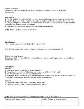Properties of Liquids Investigation