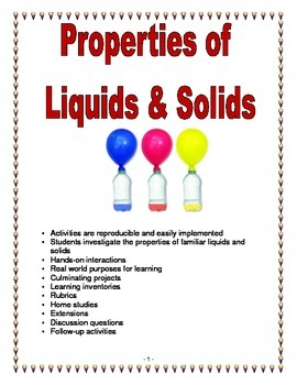 Properties of Liquids & Solids
