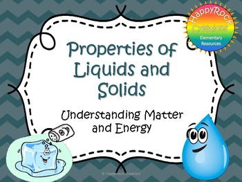 Properties of Liquids and Solids Task Cards and Worksheets