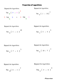 further  also Properties Of Logarithms Worksheet   WRITING WORKSHEET further Properties Of Logarithms Worksheet   holidayfu further Logarithm properties worksheet besides Algeic Expressions Worksheets with Answers Algeic Expressions moreover Inverse Functions and Logarithms Worksheets   Math Aids in addition 7 4 Notes Key additionally  further 40alge 2 Logarithms   Washington County also  in addition Intro to logarithm properties  1 of 2   video    Khan Academy additionally  together with 3 3 PROPERTIES OF LOGARITHMS together with Properties of Logarithms Worksheets   Math   Alge 2 worksheets furthermore math alge properties – fordhamitac org. on properties of logarithms worksheet answers