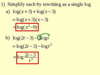Properties of Logarithms