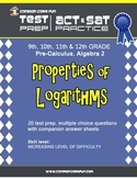 Properties of Logarithms - CST ACT SAT Test Practice