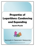 Properties of Logarithms: Condensing and Expanding - Squar
