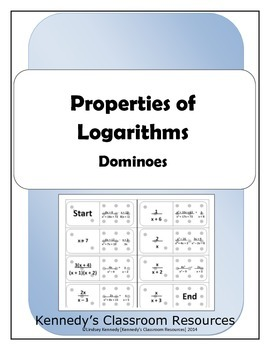 Properties of Logarithms - Dominoes