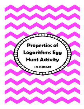Logarithmic Properties Egg Hunt