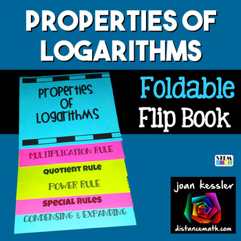 Properties of Logarithms Foldable Flip Book