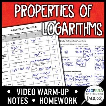 Properties of Logarithms Lesson