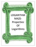 Properties of Logarithms - Maze