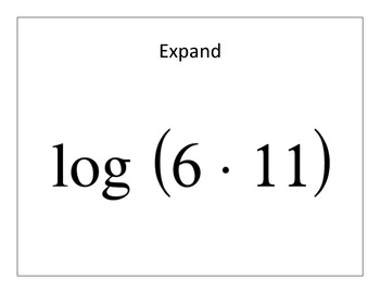 "Properties of Logarithms ""Superfast Whiteboard Dash"""