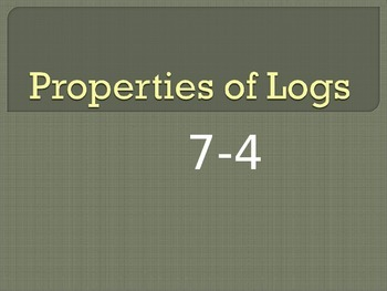 Properties of Logs
