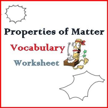 Properties of Materials - Vocabulary