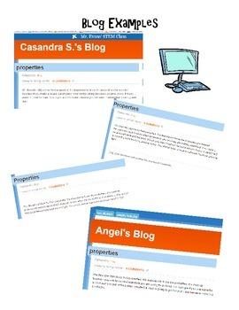 Properties of Materials Blogging Graphic Organizer