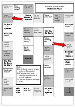 Properties of Materials Board Game