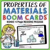 Properties of Matter and Materials Digital Task Cards | Reading Passage