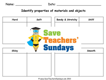 Properties of Materials Lesson plan, PowerPoint and Worksheet