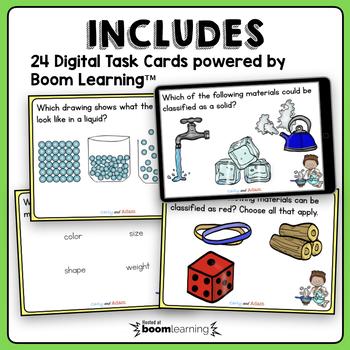 Properties of Materials Task Cards + Digital BUNDLE