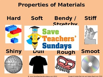 Properties of Materials Unit - 8 Lessons (1st to 2nd Grade)