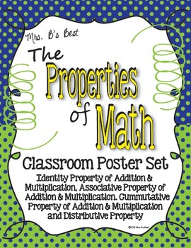 Properties of Math Posters in Blue, Lime and Lemon Accents