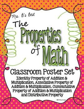 Properties of Math Posters in Tangerine and Pink Polka Dot