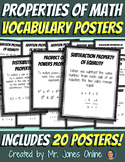 Properties of Math Word Wall Vocabulary Posters
