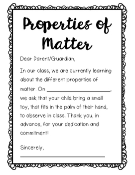 Properties of Matter - Toy & Classroom Items
