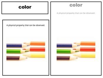 Properties of Matter 3 part cards