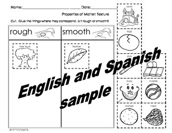 Properties of Matter Activities Pack Engl and Spanish Cscope common core