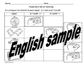 Properties of Matter Activities Pack English only Cscope common core