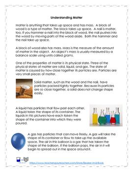 Properties of Matter Activity Pack