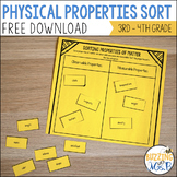 Properties of Matter Chart & Sorting Activity
