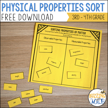 Properties of Matter Chart & Sorting Activity