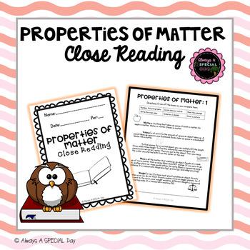 Properties of Matter Close Reading