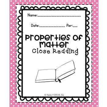 Properties of Matter: Close Reading