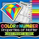 Physical and Chemical Properties of Matter - Color By Number