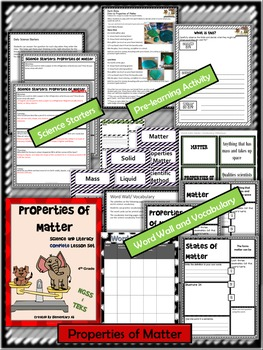 Properties of Matter:Complete Lesson Set Bundle (TEKS & NGSS)