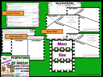 Properties of Matter:Complete Lesson Set Bundle Kindergarten & 1st (TEKS)