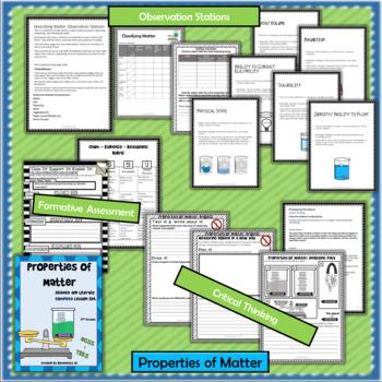 Properties of Matter: Complete Lesson Set Bundle (TEKS & NGSS) 5th Grade