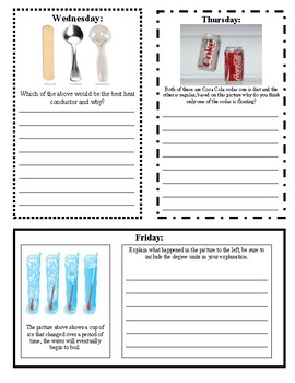 Properties of Matter Do Now or Exit Tickets