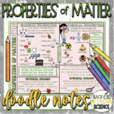 Properties of Matter Doodle Notes (Physical & Chemical Properties & Changes)