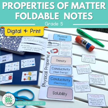 Properties Of Matter Foldable Notes And Sort Activity STAAR