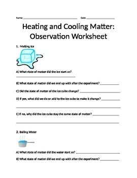 Properties of Matter- Heating and Cooling