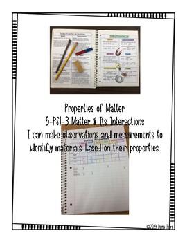 Properties of Matter INB Activities