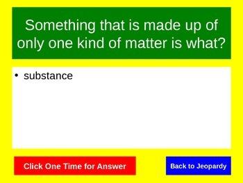 Properties of Matter Jeopardy