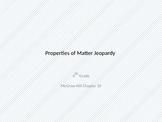 Properties of Matter Jeopardy (SmartBoard capable)
