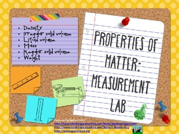 Properties of Matter Lab
