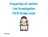 Properties of Matter Lab Investigation