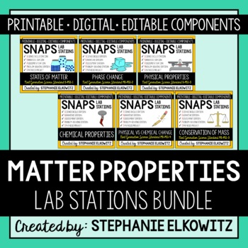 Properties of Matter Lab Stations Bundle