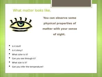 Properties of Matter, Lesson 1